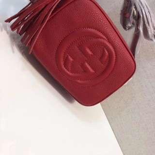 Red Gucci Disco Bag