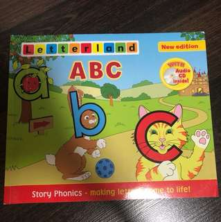 Pre-loved Letterland ABC story phonics book with unused audio cd