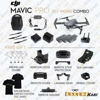 DJI Mavic Pro Drone Fly More Combo with MCMC Sirim + FREE GIFTS (Official DJI Malaysia Warranty)