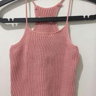 Pink Crochet Croptop