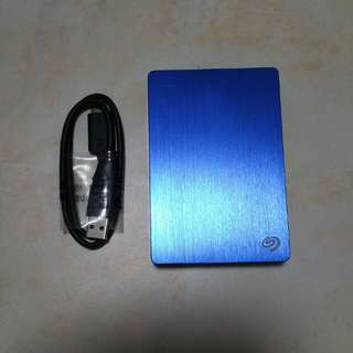 Lightly used Seagate backup plus slim 2TB external hard drive HDD