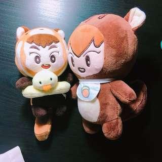 EXO xiumin 金珉錫韓站 浣熊珉&松鼠珉