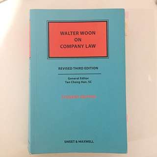 Walter Woon On Company Law ACC3604