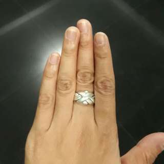 925 SILVER 4 BAND PUZZLE RING