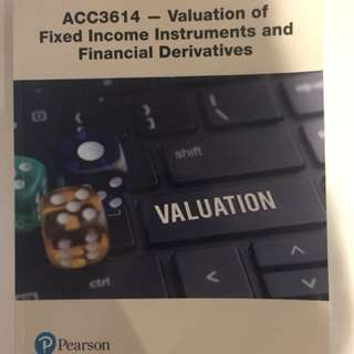 ACC3614 Valuation Of Fixed Income Instruments And Financial Derivatives