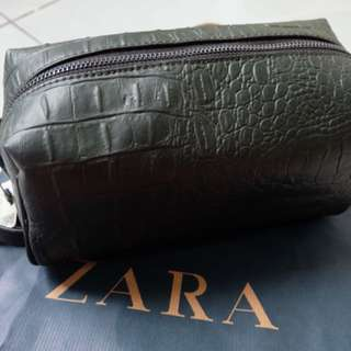 Zara Croco dark green Man Clutch