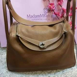 Hermes 34 Lindy Gold Clemence