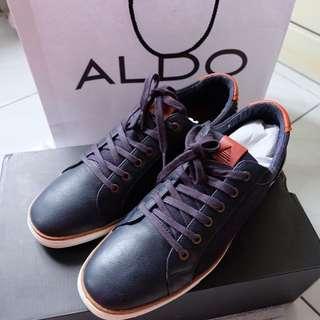 Original Blue Denim Leather Aldo Casual Man Shoes