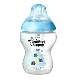 Tommee Tippee bottle (260ml) blue/pink