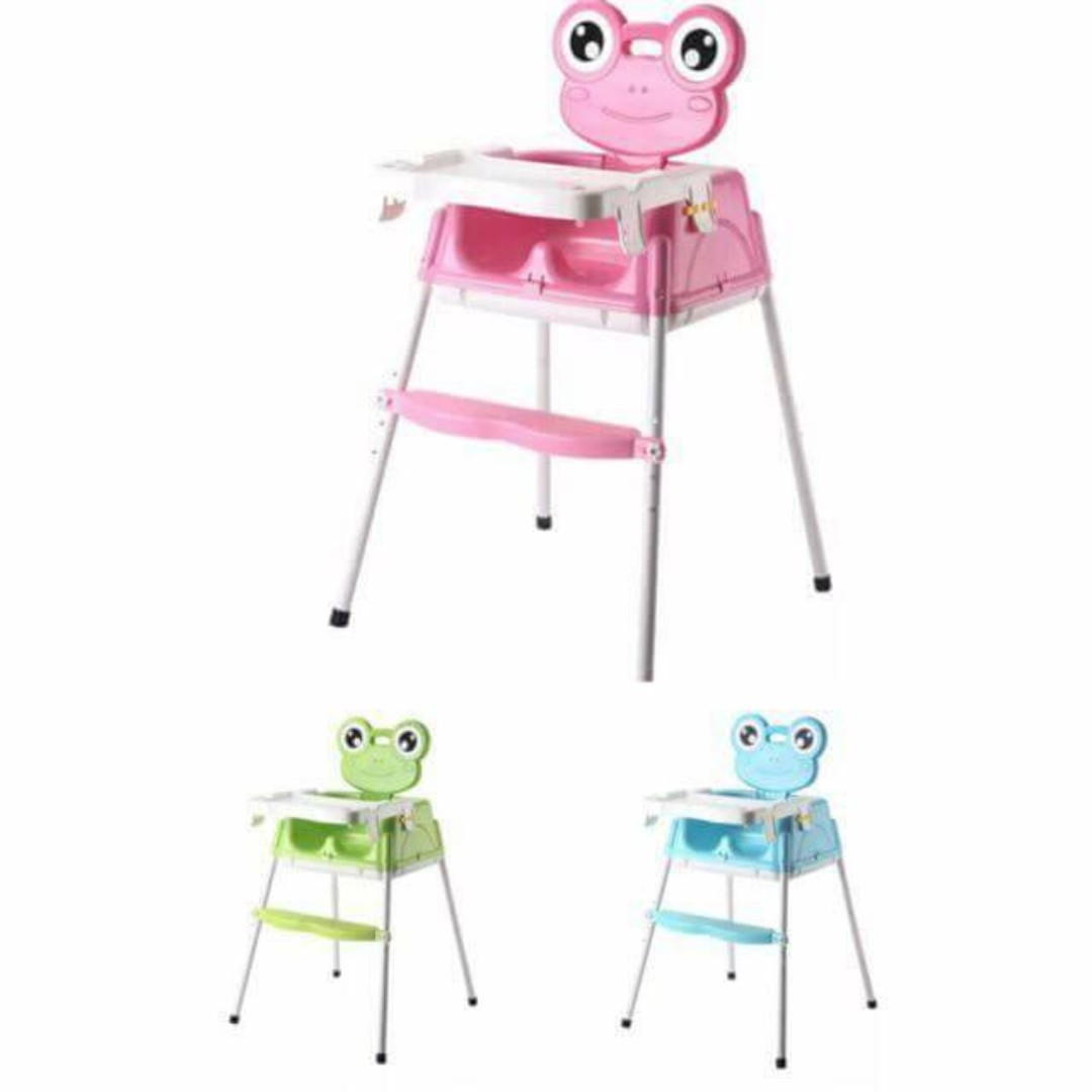 2 in 1 Frog Baby High Feefing Chair Free Baby Knee Pads