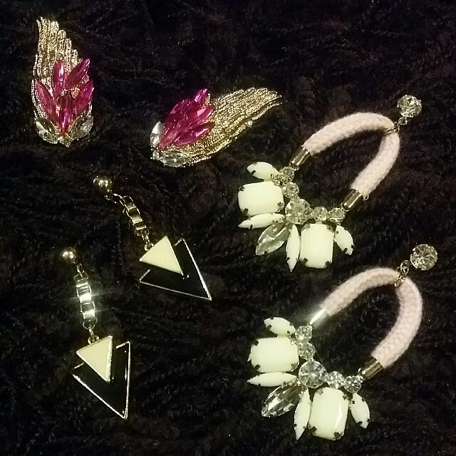 3pairs Of Earrings For Only Rm10