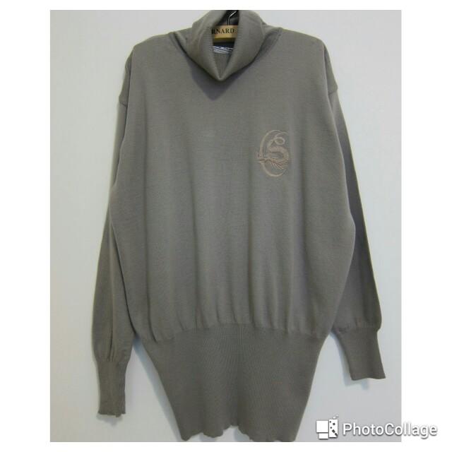 德國質感灰針織衫
