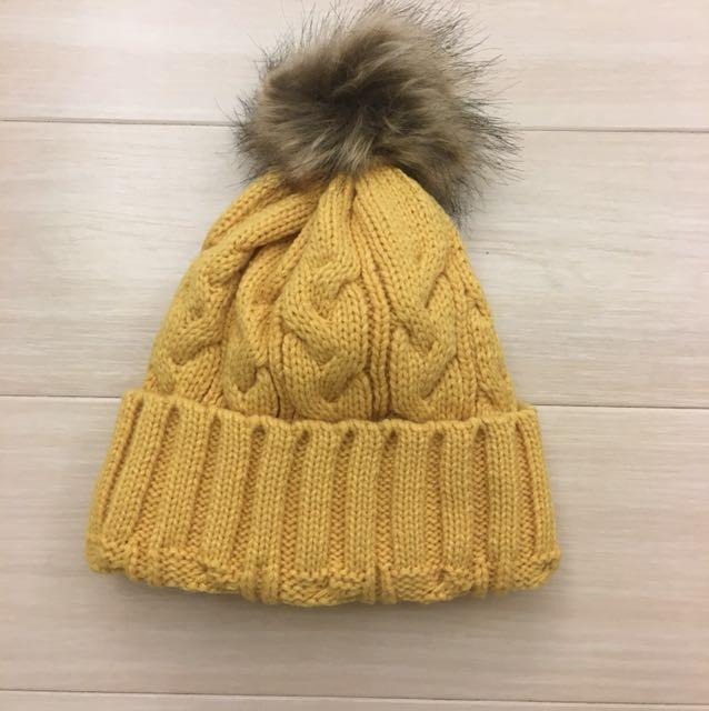 全新韓版針織內刷毛毛帽