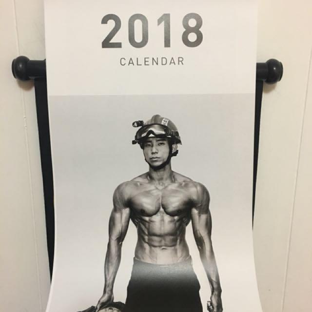 韓國消防猛男月曆
