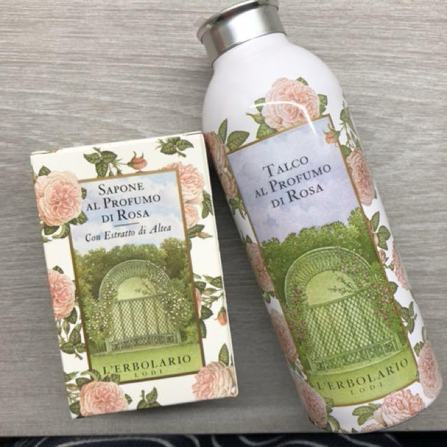 蕾莉歐玫瑰香皂+香體粉