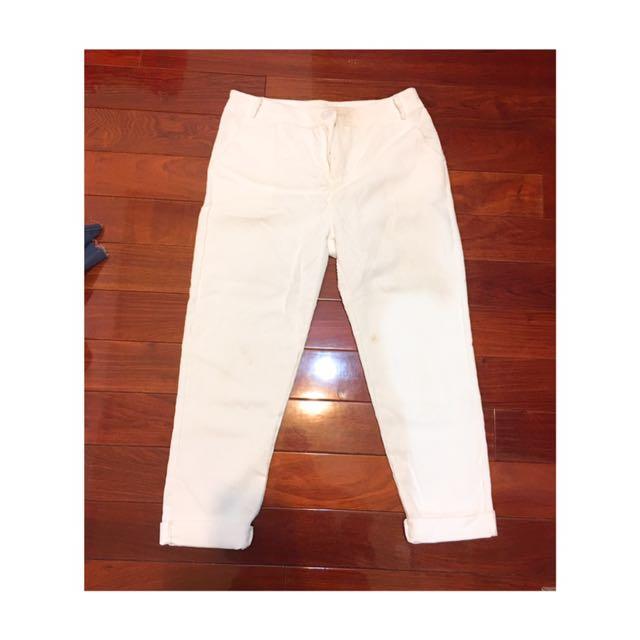 寬鬆白色男友褲👖