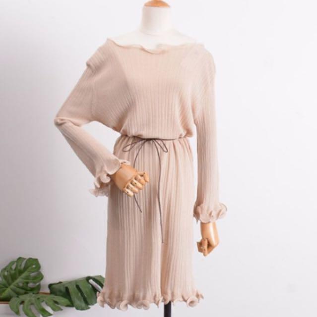 全新)細針織洋裝