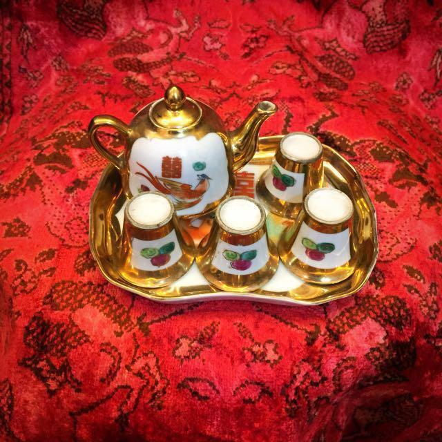 囍。婚禮交杯酒組。燙金。 奉茶。下午茶。