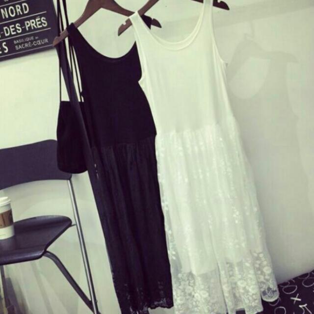 全新 雪紡蕾絲連身裙