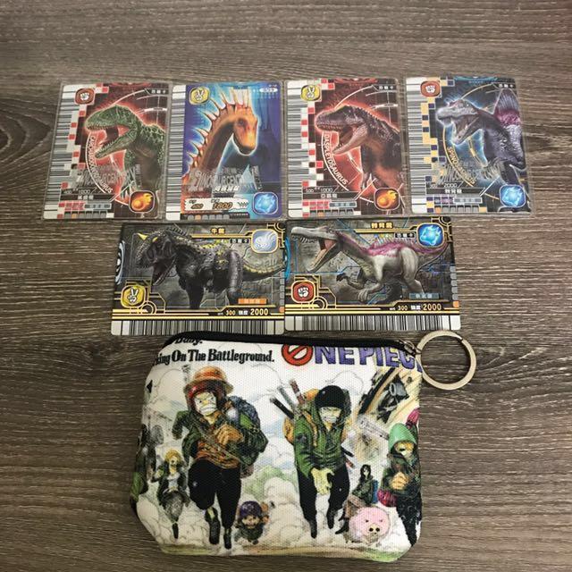 絕版正版恐龍卡 附海賊王小包包