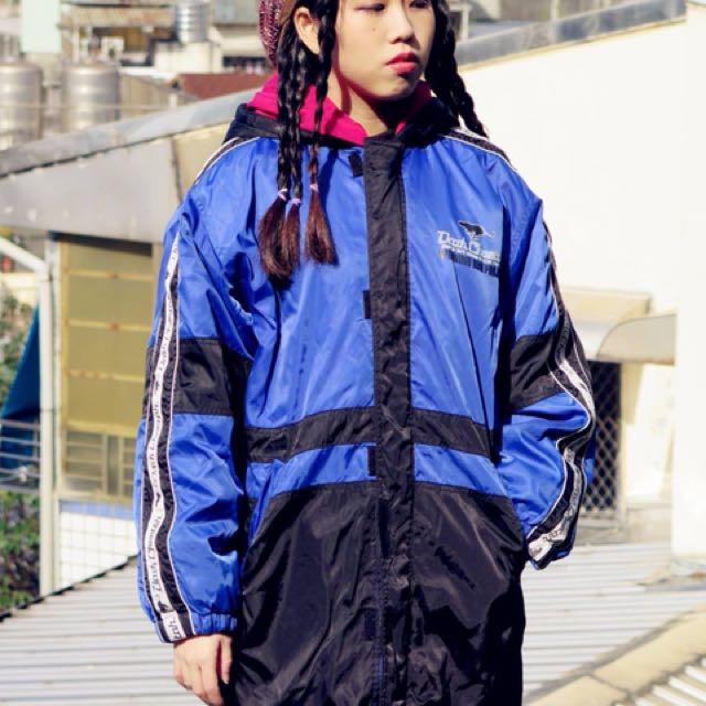 日本滑雪 內刷毛防風長版外套
