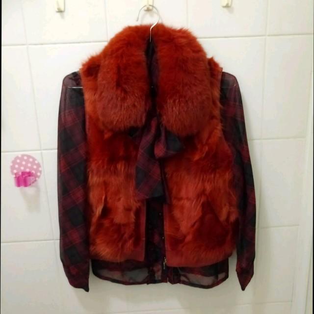 🦊狐狸毛真皮草貴婦級背心外套 🙅不含內搭襯衫