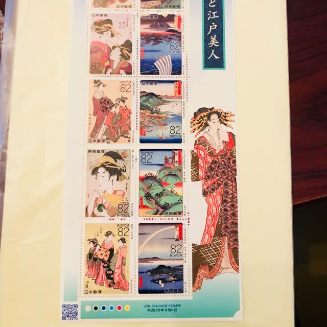 日本限量 只有一個 藝伎古代郵票 收藏 👍🏻 含運