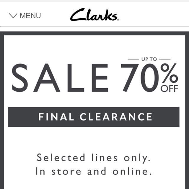 海外代購 Clarks 70% off 鞋子折扣季 最後出清