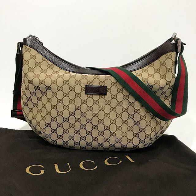 be4e1103a382 🆕 Vintage Gucci GG Messenger with Signature Web Strap (Large ...