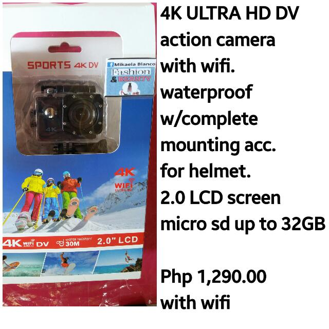 action camera with wifi