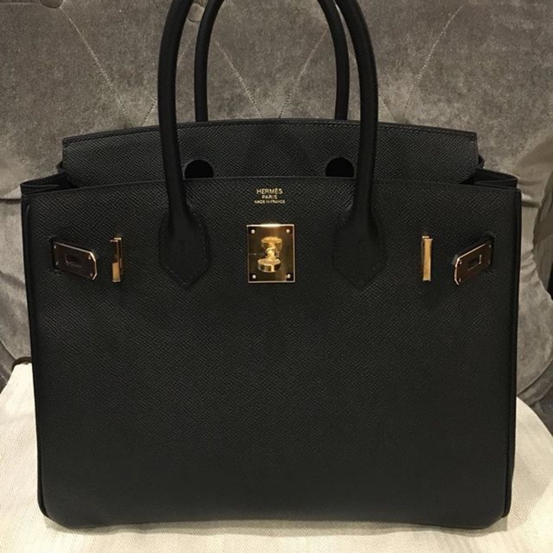 85e2d1048c0 Authentic hermes birkin 30 black epsom ghw stamp A