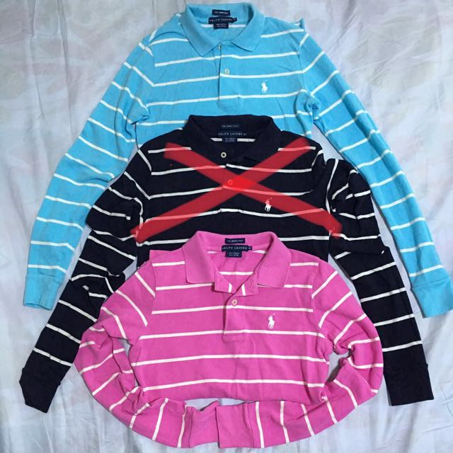 authentic ralph lauren skinny polo long sleeves shirts