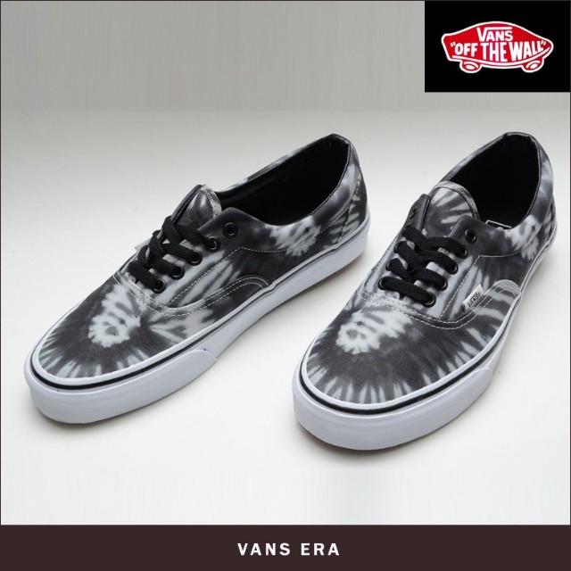 bba45bb816 Authentic Vans Black Grey Tie Dye Skate Shoes