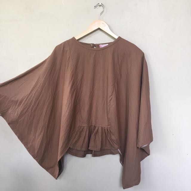 Batwing Brown Blouse