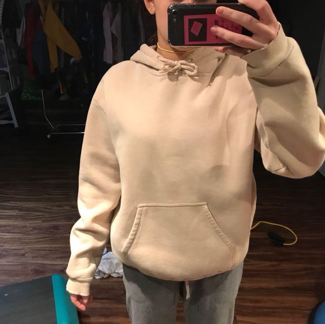 Beige topshop sweatshirt