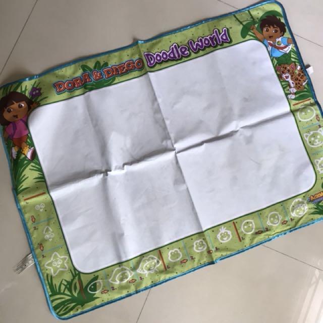 Big aqua doodle sheet 70x46 cm