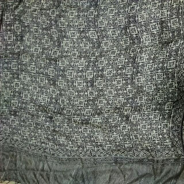 Black and White Silk Shawl