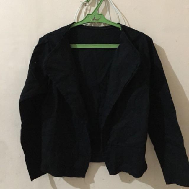 Black long sleeve coat