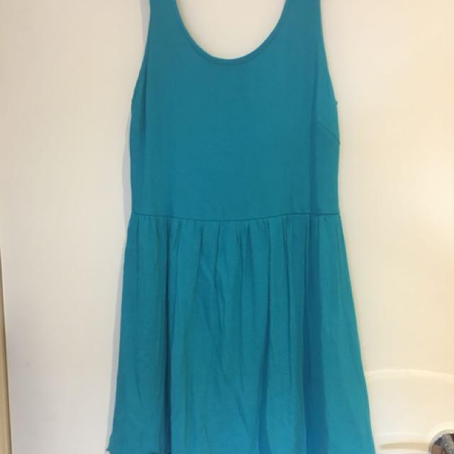 Blue-green dress