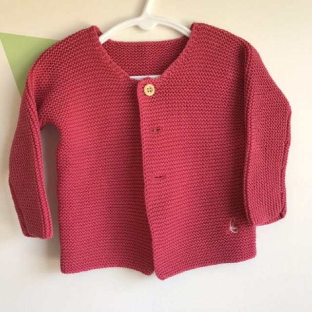 Bonds Red Knitted Jumper - Size 1