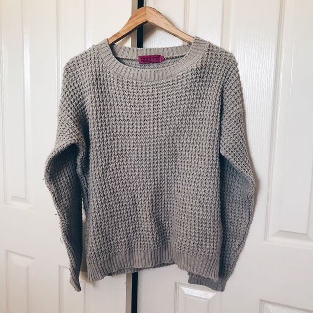 BOOHOO Stone Knitwear Sweater