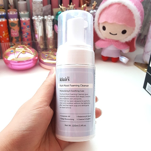 Brand New & Authentic Klairs Rich Moist Foaming Cleanser