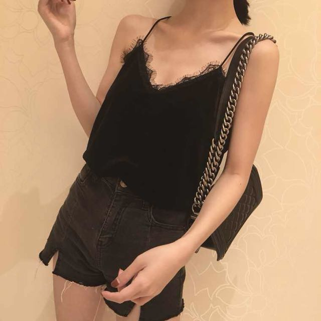 Brand new lace black top