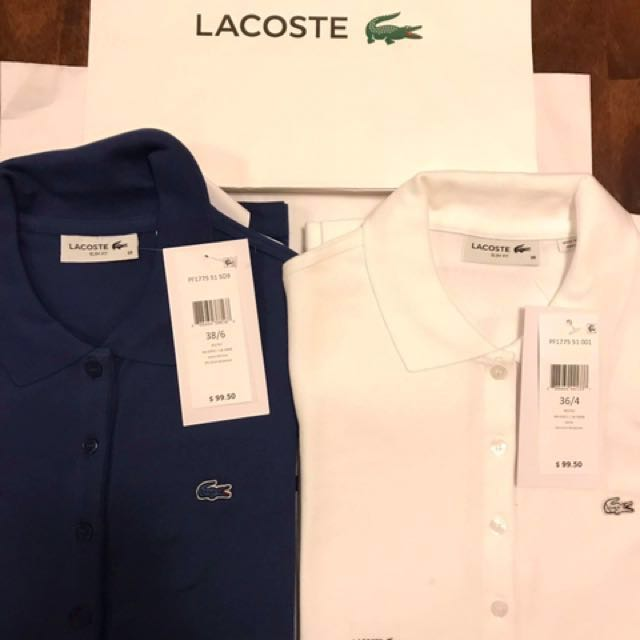 Brand New Lacoste Longsleeves for Ladies