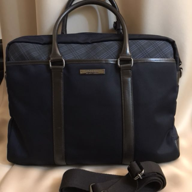 49a2b2f3f6fc Burberry Black Label Mens Briefcase Bag