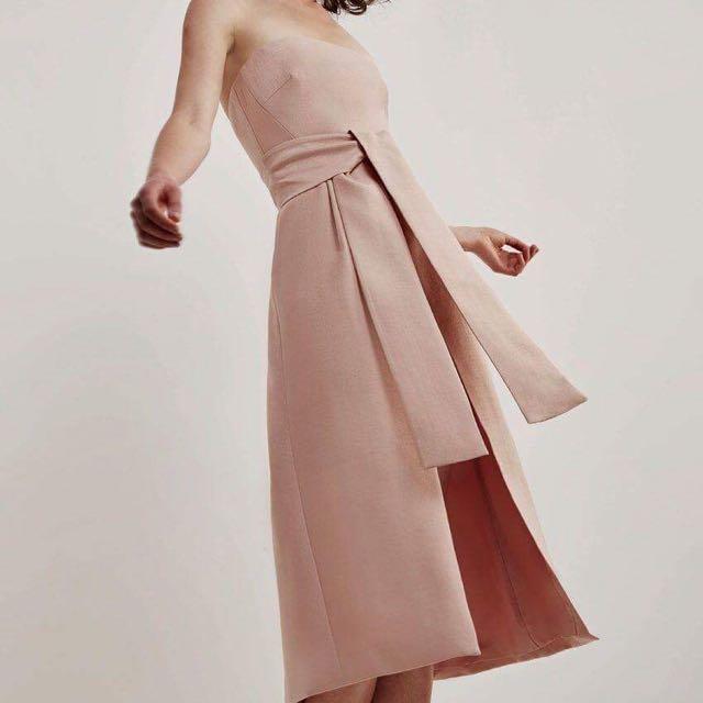 Cameo (C/MEO) White Lies Dress in Blush Size M