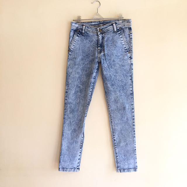Celana jeans acid