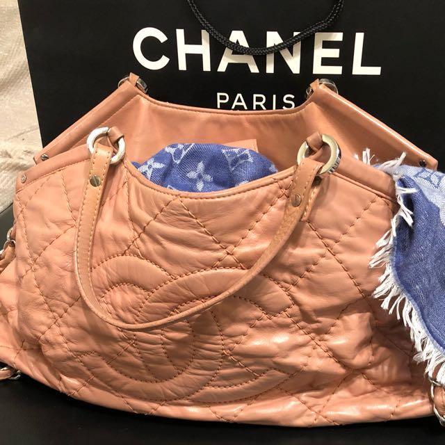 真品Chanel 幻彩皮革手提斜背包