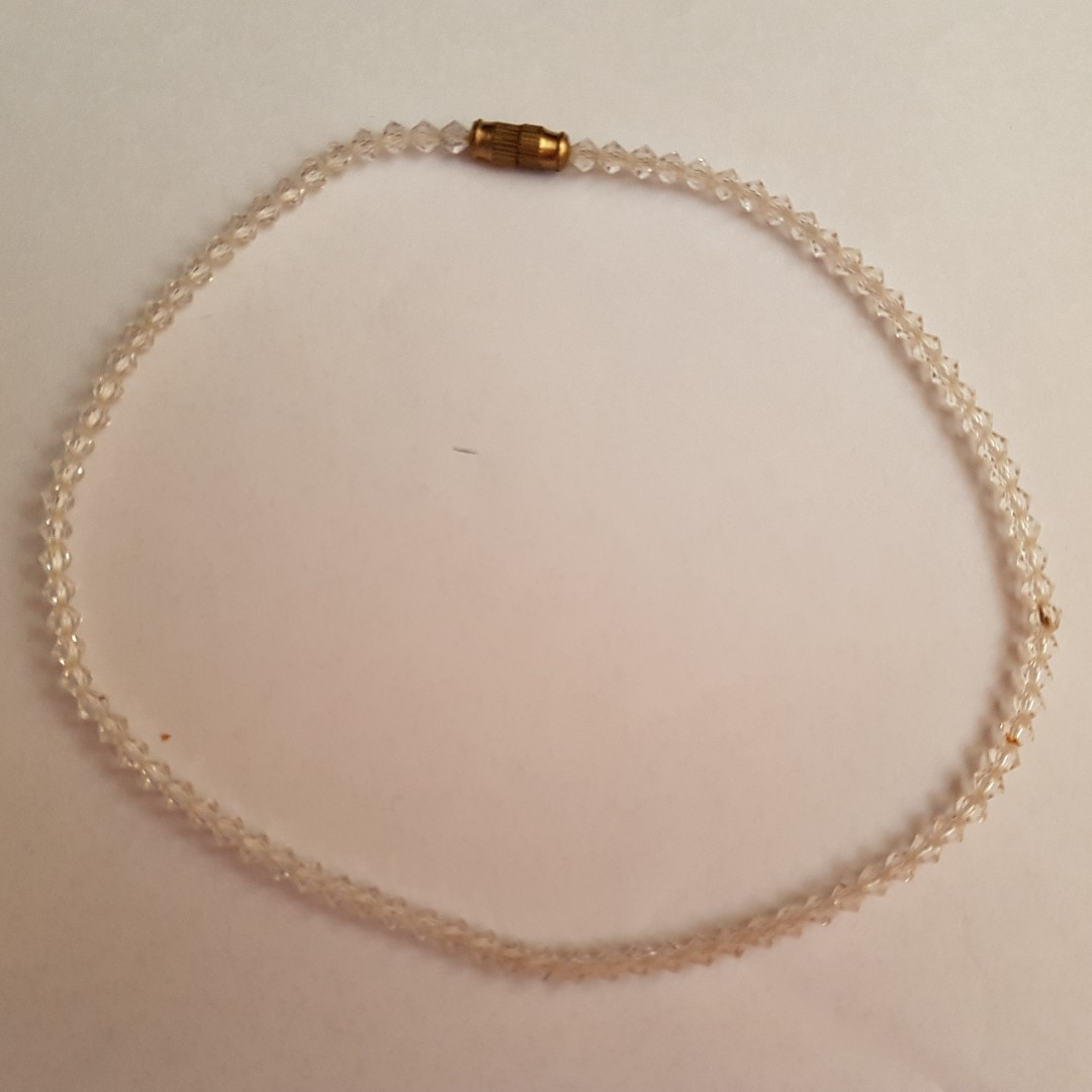 Clear stone choker/necklace