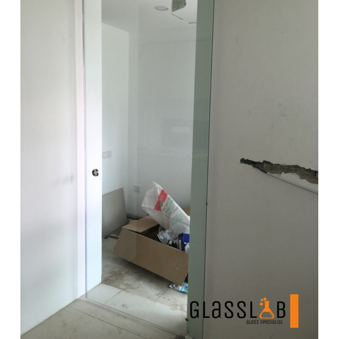 Clear Tempered Glass Sliding Door Furniture Home Decor On Carousell
